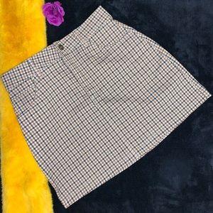 Forever21 Tan Plaid Mini Skirt
